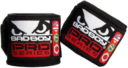 Бинты Bad Boy MMA Hand Wraps 2.5 м - Black