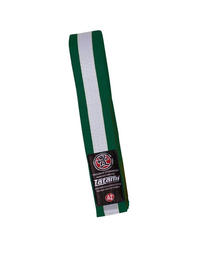 Пояс детский Tatami IBJJF Kids Rank Belts Green/White &