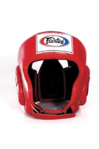 Шлем Fairtex Headguard HG6 Red&