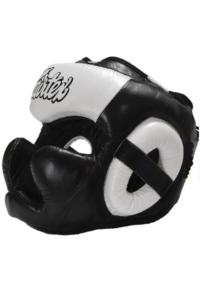 Шлем Fairtex Headguard Full Cover HG13F Black/White