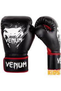 Детские перчатки Venum Contender Kids Boxing Gloves Black/Red